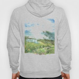 Summer by a lake Hoody