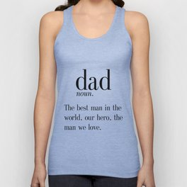 Dad Definition Print, Father's Day Gift, Funny Dad Gift, Wall Art, Digital Print, Instant Download, Unisex Tank Top