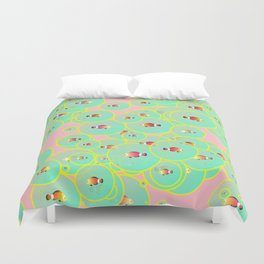 Fish and bubbles Duvet Cover