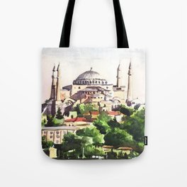 Istanbul Turkey Hagia Sophia Tote Bag