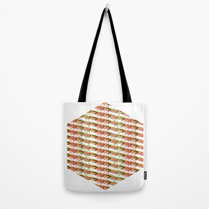 Sunset Exagon Tote Bag