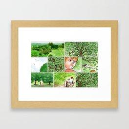 Untitled (Boy & Bird) Framed Art Print