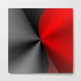 Slick masculine black and red metallic design Metal Print