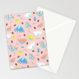 Postmodern Lotus Toss Stationery Cards