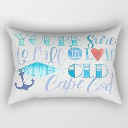 You're Sure to Fall in Love with Old Cape Cod Rectangular Pillow