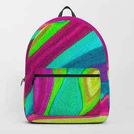 Fragmento de matices de vida color 2 Backpack
