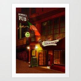 Dempsey's Pub Art Print