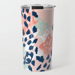 Kylie - abstract mint pastels painting boho trendy simple minimalist canvas home decor Travel Mug