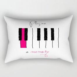 play me a memory Rectangular Pillow
