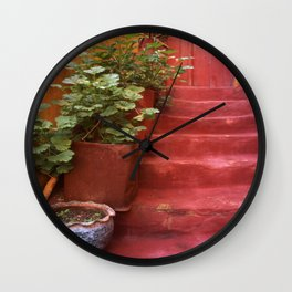 Blue, Red and Green Wall Clock