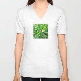 Vegan. Fashion Textures Unisex V-Neck