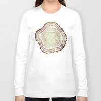 ombre Long Sleeve T-shirts featuring Tree Rings – Watercolor Ombre by Cat Coquillette