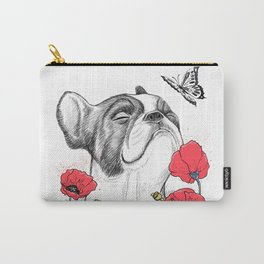 Pug in flowers Carry-All Pouch