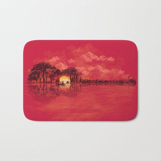 Musical Sunset Bath Mat