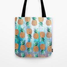 Pineapple Beach Aqua Tote Bag