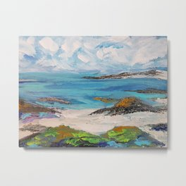 Beach in Scotland Metal Print