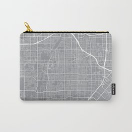 Santa Ana Map, California USA - Pewter Carry-All Pouch
