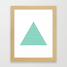 Geometric shape t-shirts & prints: Triangle (Tri x Tri) Multiple colours available... Framed Art Print