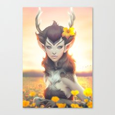 Deer Princess Canvas Print