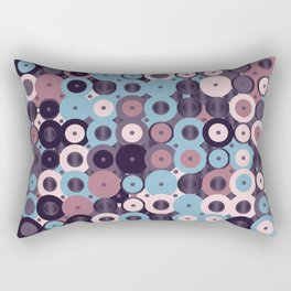 Colorful Abstract Random Circles Texture, Background Pattern Rectangular Pillow