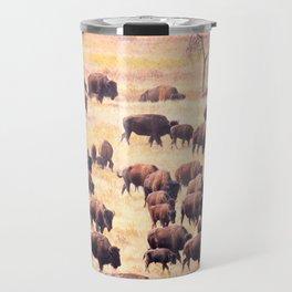 Buffalo Roundup at Custer State Park Travel Mug