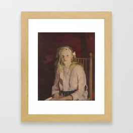 Julie Hudson, First State by George Bellows (1882–1925) Framed Art Print