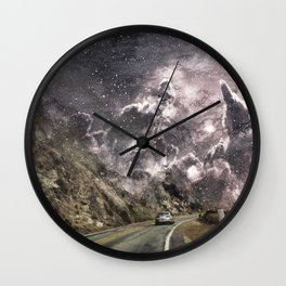 Space gazing Highway One Wall Clock