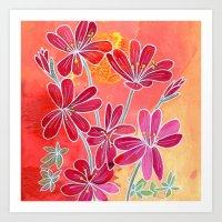 Heart Willow-Weed Wildflower Art Print