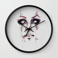 soul Wall Clocks featuring Soul by Bruno Gonçales