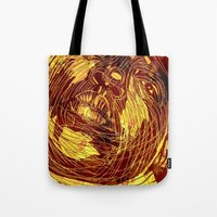 notorious Tote Bags featuring NOTORIOUS by BlackKirby1