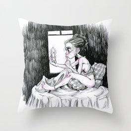 Quiet! Throw Pillow