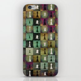 Paint and Print  Chessboard and Chess Pieces pattern iPhone Skin