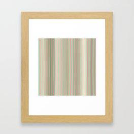 Christmas Time for Stripes Framed Art Print