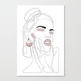 Blush Splash Canvas Print