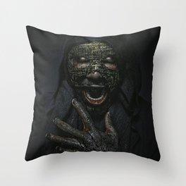 Boogie Horror: Mirror Mask Throw Pillow