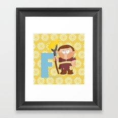 f for farmer Framed Art Print