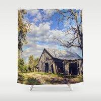 kentucky Shower Curtains featuring Kentucky Barn by JMcCool