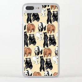 Bear Skin Clear iPhone Case