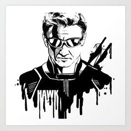 Avengers in Ink: Hawkeye Art Print