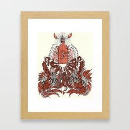 Hot Love Framed Art Print