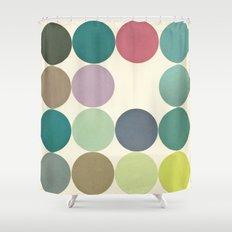 Circles I Shower Curtain