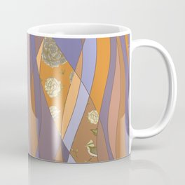 Abstract pattern with floral collage Coffee Mug