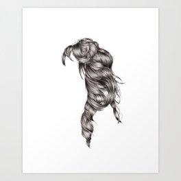 Dara's Hair Art Print