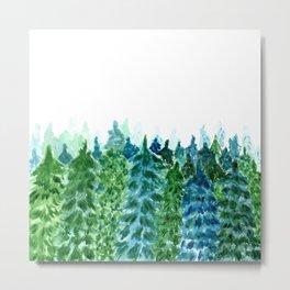 Forest green landscape Metal Print