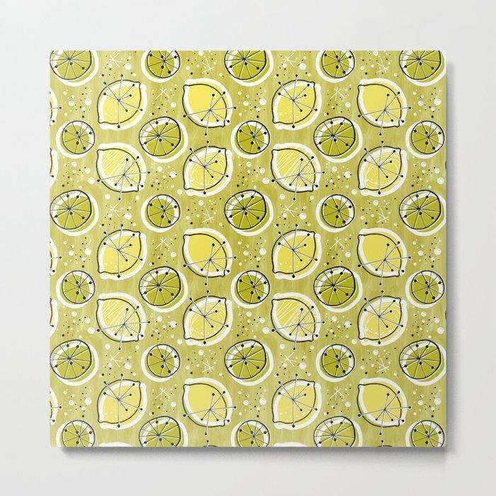Atomic Lemonade_Green Metal Print