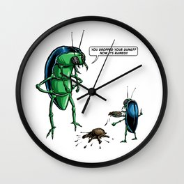 Dung Beetles Wall Clock
