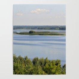 Landscape on the river # 3 Poster