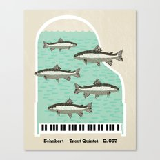 Schubert - Trout Quintet, D. 667 Canvas Print