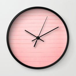 rose red distressed painted stone wall ambient decor rustic  Wall Clock