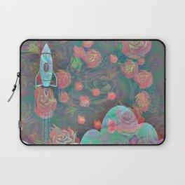 Rocket and Roses Landscape Print Laptop Sleeve